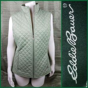 Eddie Bauer Women's Quilted lightweight Vest green